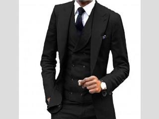 Veste noire pour homme 3 pièces